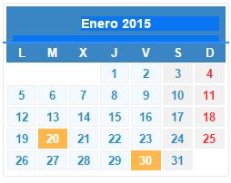 Calendario de Hacienda: enero 2015