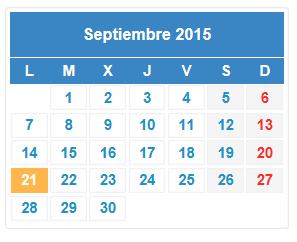 Calendario de asesorías fiscales en septiembe