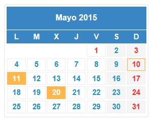 calendario fiscal mayo 2015